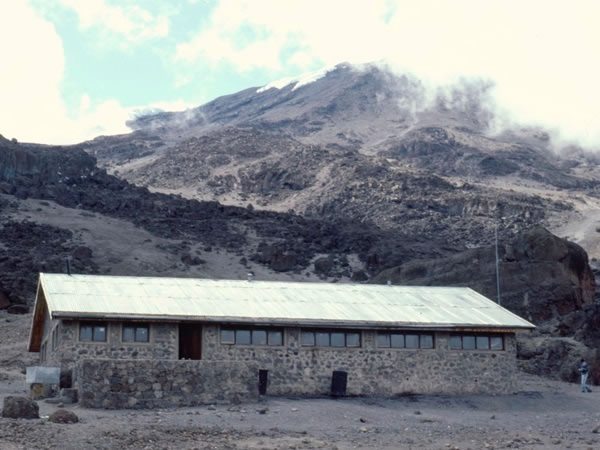 11.12.1985 - Kibo hut – a solid stone building.