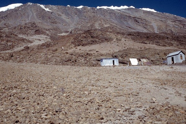 27.12.1959 - Kibos squalid series of four small tin huts. We slept in the right-hand hut.